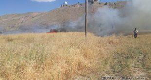 آتش سوزی در مزرعه قنات خانیک + فیلم