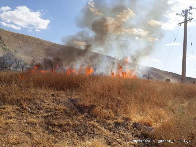 آتش سوزی مزرعه خانیک